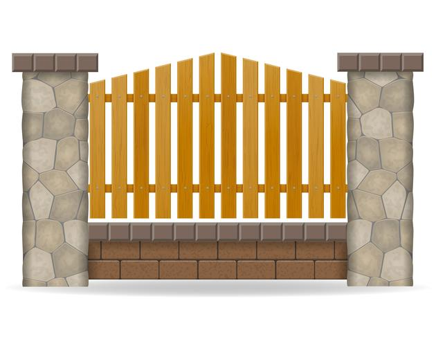 illustration vectorielle de clôture en pierre vecteur