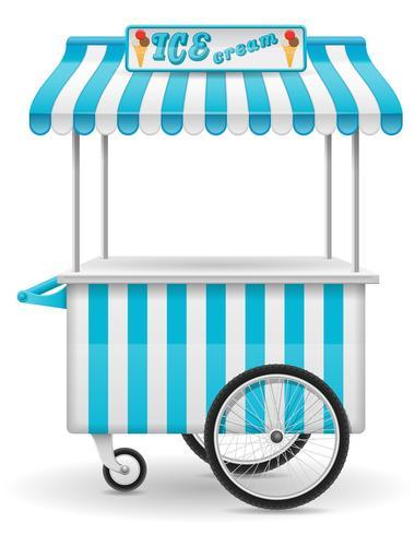 illustration vectorielle de street food panier de crème glacée vecteur