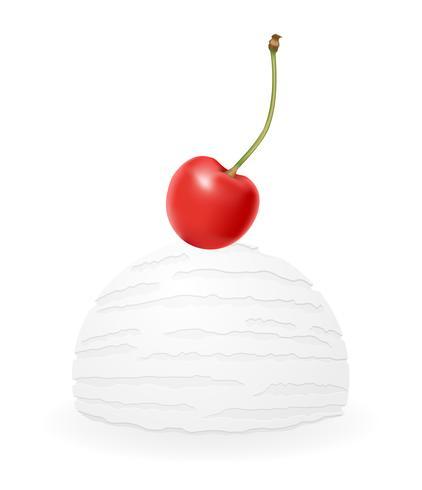 illustration vectorielle de boule de crème glacée vecteur