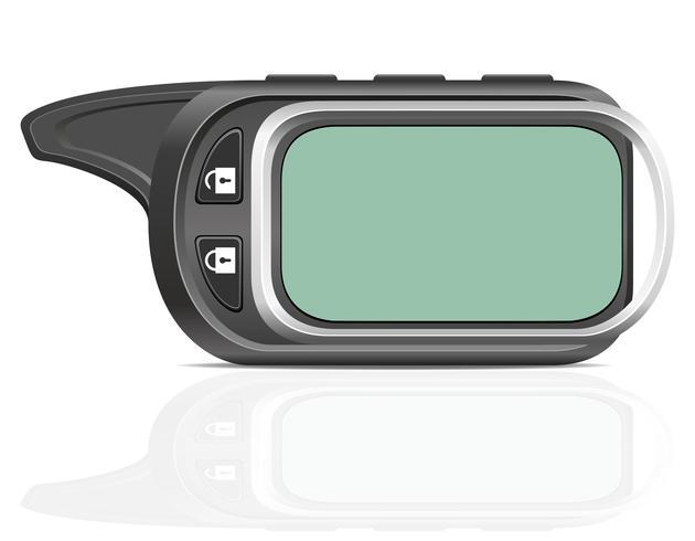 illustration vectorielle d'alarme de voiture à distance vecteur