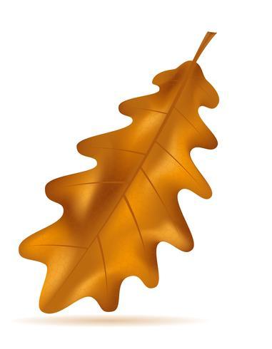 automne feuilles de chêne vector illustration