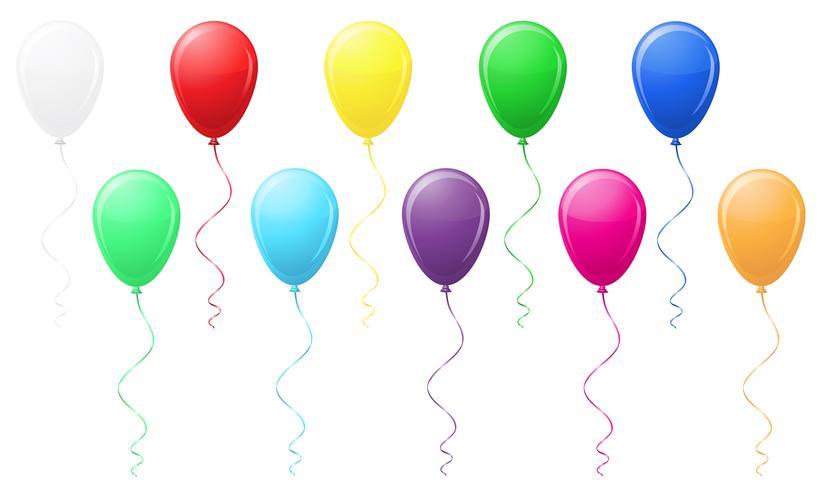 ballons colorés vector illustration