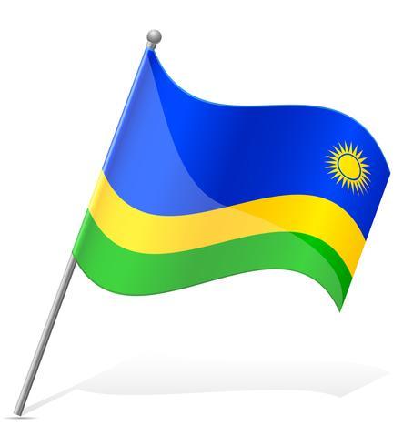 drapeau de l'illustration vectorielle rwanda vecteur