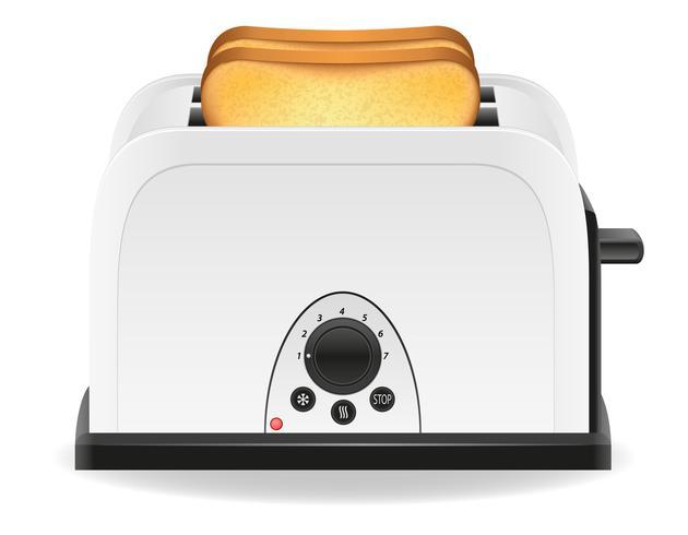pain grillé dans une illustration vectorielle de grille-pain vecteur