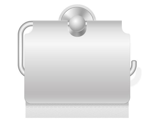 papier toilette sur illustration vectorielle titulaire vecteur