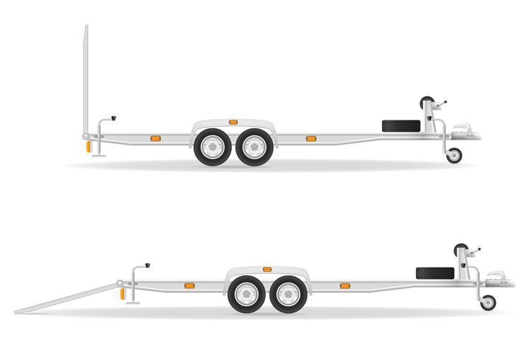 remorque de voiture pour véhicules de transport vector illustration