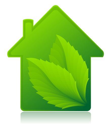 illustration vectorielle de maison écologique concept vecteur