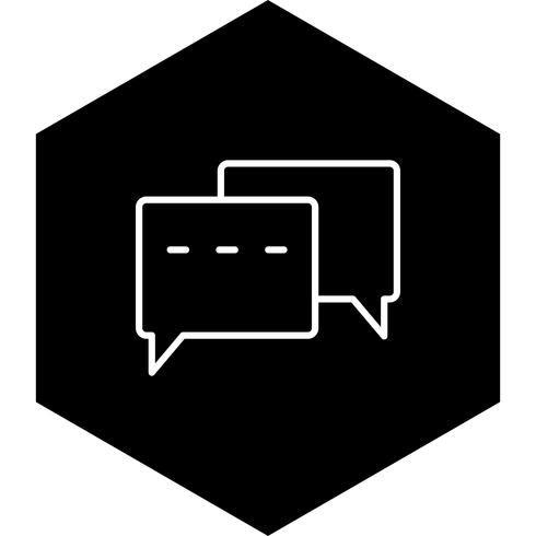 Conversation Icon Design vecteur