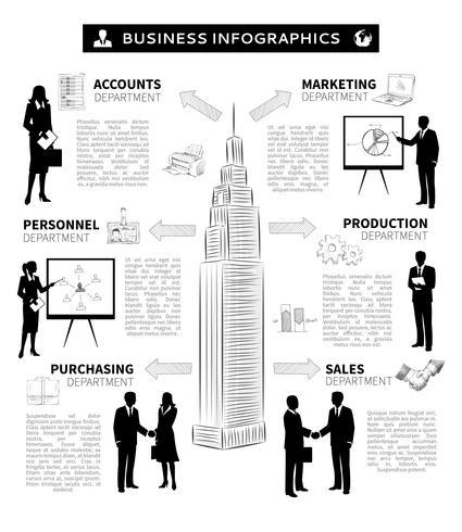 Infographie des gens d'affaires vecteur