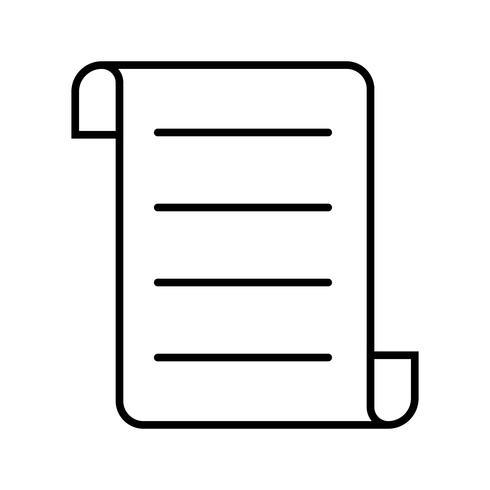 Icône contract line noire vecteur