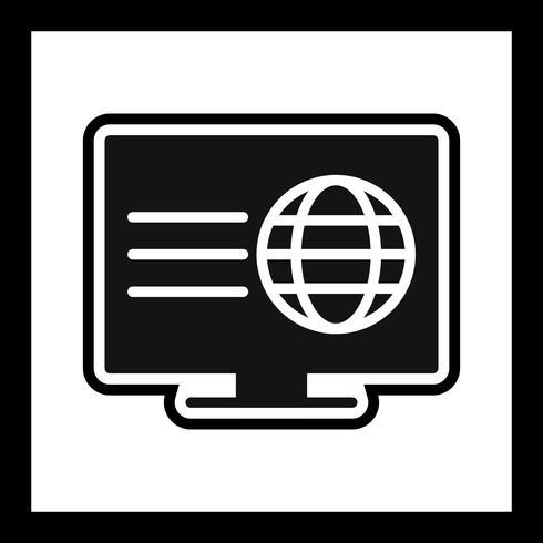 Conception d'icône Webpage vecteur