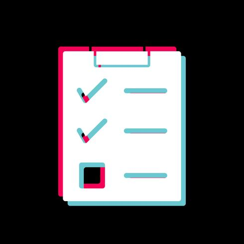 Conception d'icône de liste de contrôle vecteur