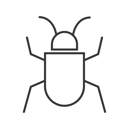 Icône Bug Line Black vecteur