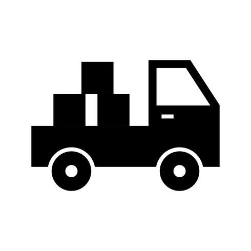 Icône Glyph Black Pickup Truck vecteur
