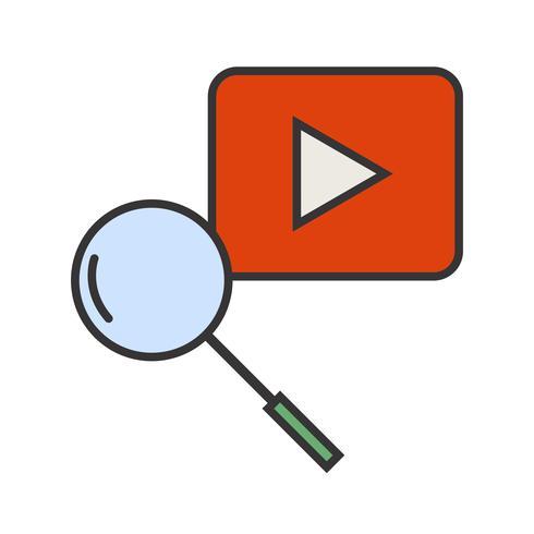 Icône de recherche Youtube remplie vecteur