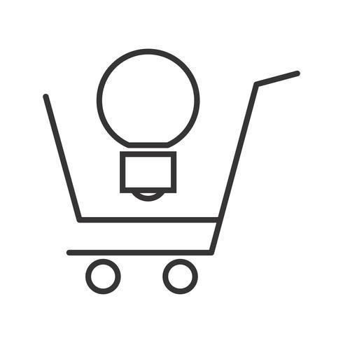 Ligne de solutions de commerce icône noire vecteur