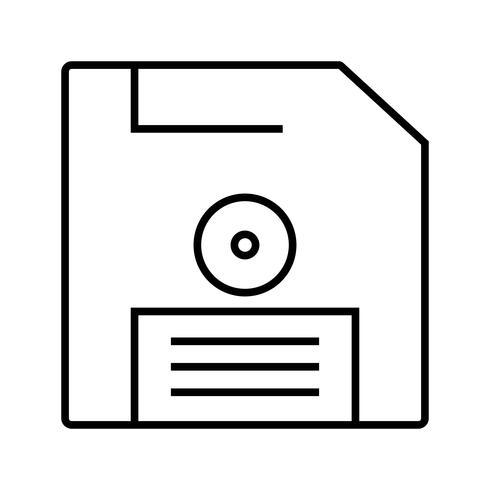 Icône Enregistrer une ligne noire vecteur