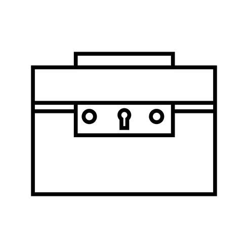 Porte-documents Ligne Black Icon vecteur