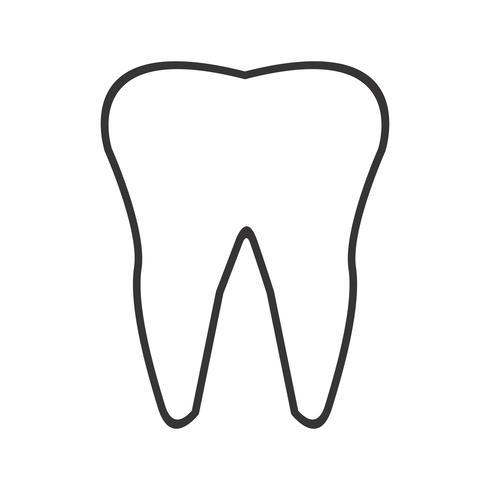 Ligne de dent icône noire vecteur