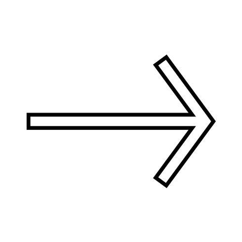 Icône droite ligne noire vecteur
