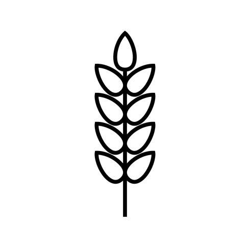 Blé Line Black Icon vecteur