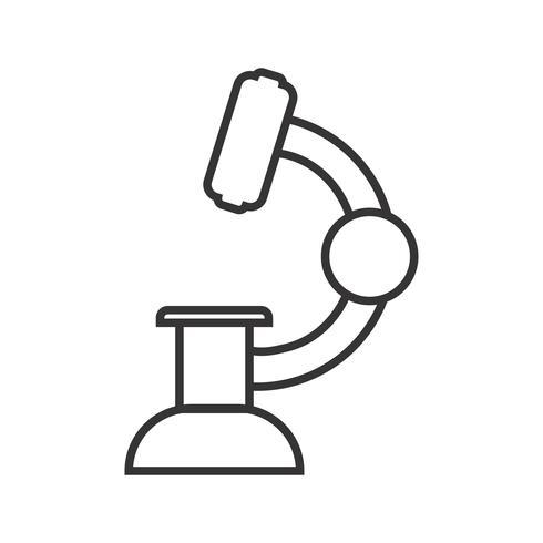 Ligne de laboratoire icône noire vecteur