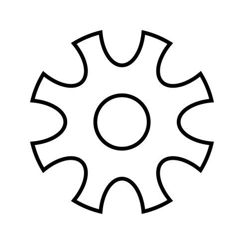 icône ligne noire configurations vecteur