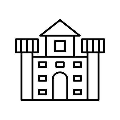 Icône de la ligne noire du château vecteur