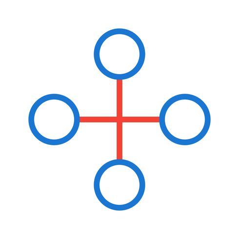 Conception d'icône de bâtiment de lien vecteur