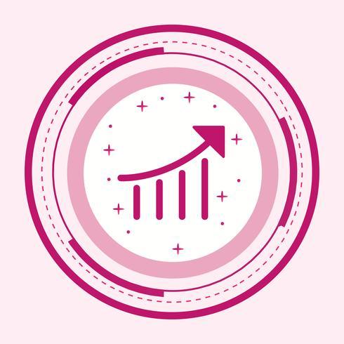 conception de l'icône de performance seo vecteur