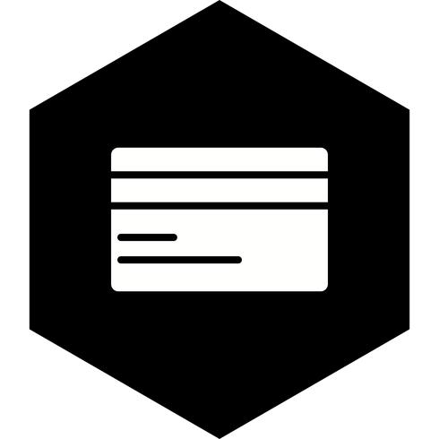 Conception d'icône de carte de crédit vecteur