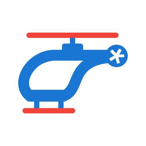 Conception d'icône d'hélicoptère vecteur