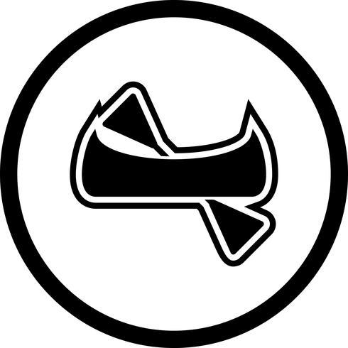 Conception d'icônes de canoë vecteur