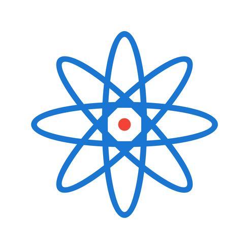 conception d'icône d'atome vecteur