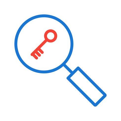 Recherche par mot-clé Icône Design vecteur