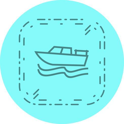 Conception d'icône de bateau vecteur
