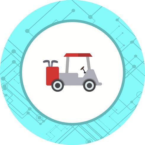 Conception d'icône de voiturette de golf vecteur