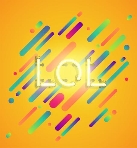 Mot néon sur fond coloré, illustration vectorielle vecteur