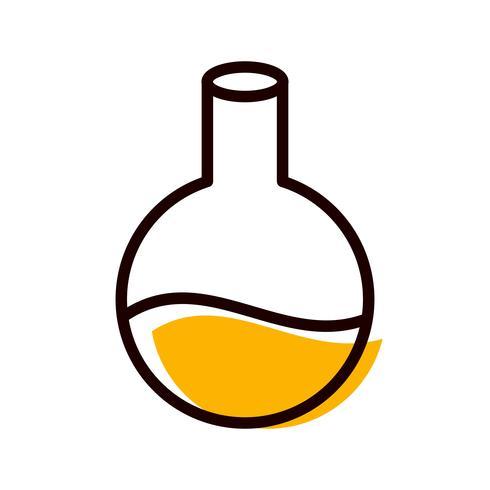conception d'icône de fiole vecteur