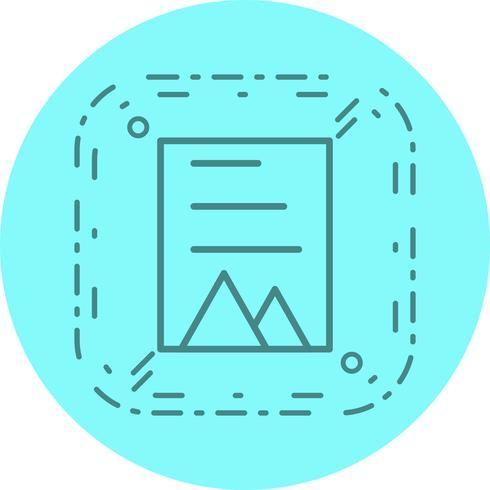 conception d'icône de document vecteur