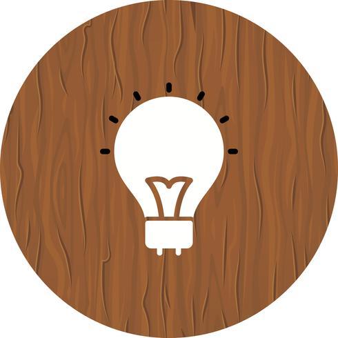 Ampoule Icône Design vecteur