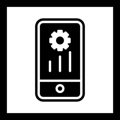 Conception d'icônes de marketing mobile vecteur