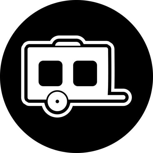 conception d'icône de wagon vecteur
