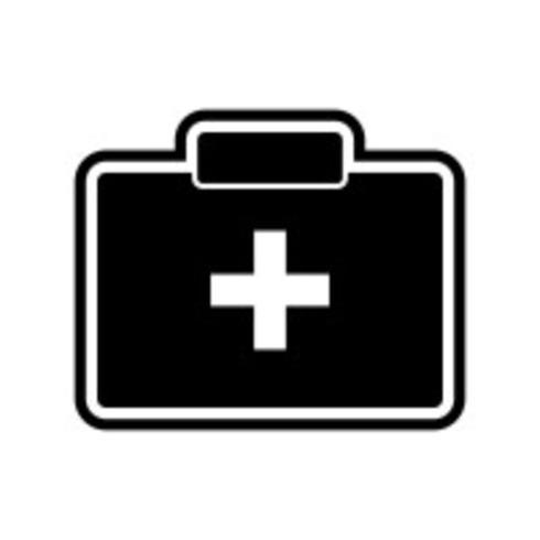 Conception d'icônes de boîte de premiers secours vecteur