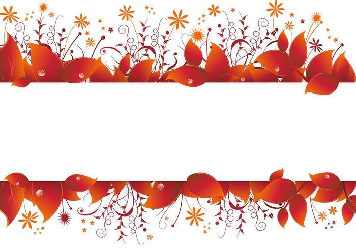 Vecteur de bannière des feuilles d'automne
