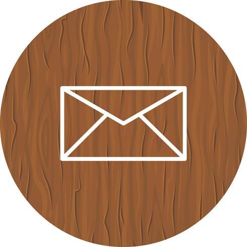 Conception d'icône de boîte de réception vecteur