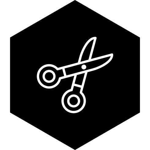 conception d'icône de ciseaux vecteur