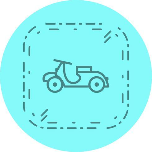 conception d'icône de vespa vecteur
