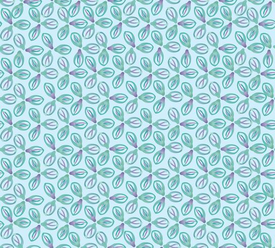 Modèle de tuile floral oriental abstrait. Ornement géométrique vecteur