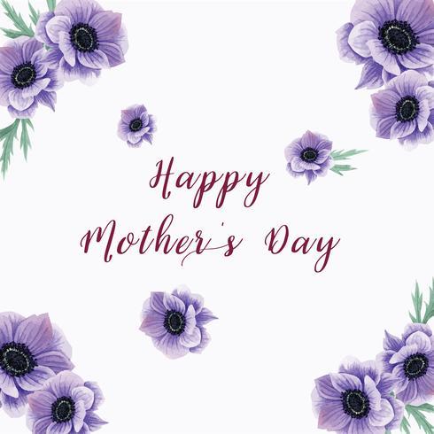 Aquarelle florale, fleurs de pavot en fleurs, cartes de mariage, aquarelle florale, invitation à réserver une date, mariage à célébrer, Merci vecteur